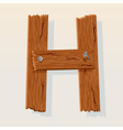 wooden letter h vector image vector image