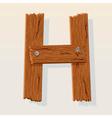 wooden letter h vector image