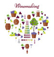 elite winemaking poster in heart shape vector image