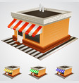 store building with striped awning vector image