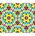 Bright Yellow Blue Flower Fractal Pattern vector image