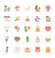 mothers day flat icons vector image