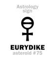 astrology asteroid eurydike eurydice vector image vector image