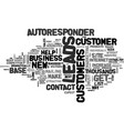 autoresponder leads create a customer base vector image vector image