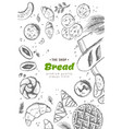 bakery background linear graphic bread