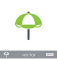 beach parasol outline icon summer vacation vector image vector image