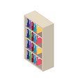 bookscase library isolated icon vector image
