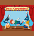 boys performing street dance on stage vector image vector image