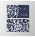 Business card with stylish modern floral pattern vector image vector image