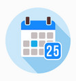 calendar with number 25 icon vector image