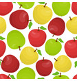 cartoon seamless pattern different apples vector image vector image