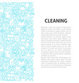 cleaning line pattern concept vector image