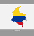 colombia map flag vector image
