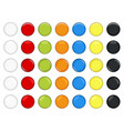 Colorful glossy button a set of beautiful and