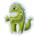 cute Halloween character ogre fictitious creature vector image vector image