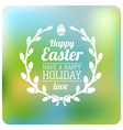 Easter Typographical Background Flat design vector image