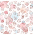 easter watercolor pattern vector image vector image