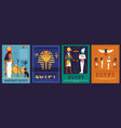 egypt posters covers with egyptian gods vector image vector image