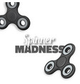fidget spinner gadget icon realistic spinning toy vector image