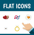 flat icon love set of letter sexuality symbol vector image