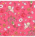 floral pattern valentine red vector image