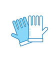 garden gloves icon vector image