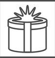gift icon on white background c vector image vector image