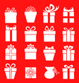 gift set red vector image vector image