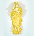 greek goddess the mythological heroine of ancient vector image vector image