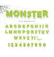 halloween cute monster font for kids jelly slim vector image vector image