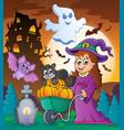 halloween theme image 3 vector image vector image