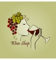 hand drawn wine label vector image vector image
