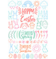 happy easter set of doodles vector image vector image