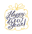 Happy New Year lettering composition vector image vector image