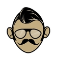 Hipster cartoon face vector image