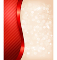 Holiday background with red gift ribbon vector image
