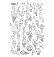 Icecream collection sketch for your design vector image vector image
