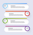 info graphics for your business presentations can vector image vector image