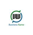 initial letter vw logo template design vector image