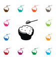 isolated eating icon rice element can be vector image vector image