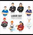 labor day promotional poster with popular vector image