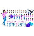 large isometric set for creation teenager vector image