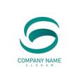 letter s green logo vector image