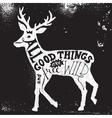 Lettering in deer silhouette vector image vector image