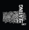 lose fat easy text background word cloud concept vector image vector image