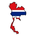 Map in colors of Thailand vector image