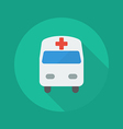 Medical Flat Icon Ambulance vector image vector image