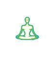 meditation pose logo vector image