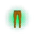 Mens trousers icon comics style vector image vector image