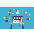Mobile marketing and online store vector image vector image
